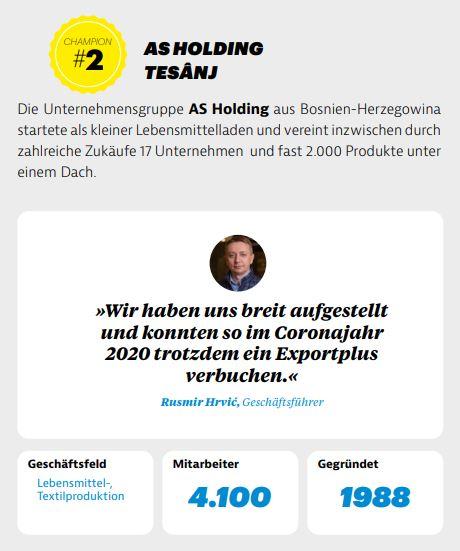 Njemački Market International pisao o AS Holdingu kao jednoj od najuspješnijih kompanija na Zapadnom Balkanu